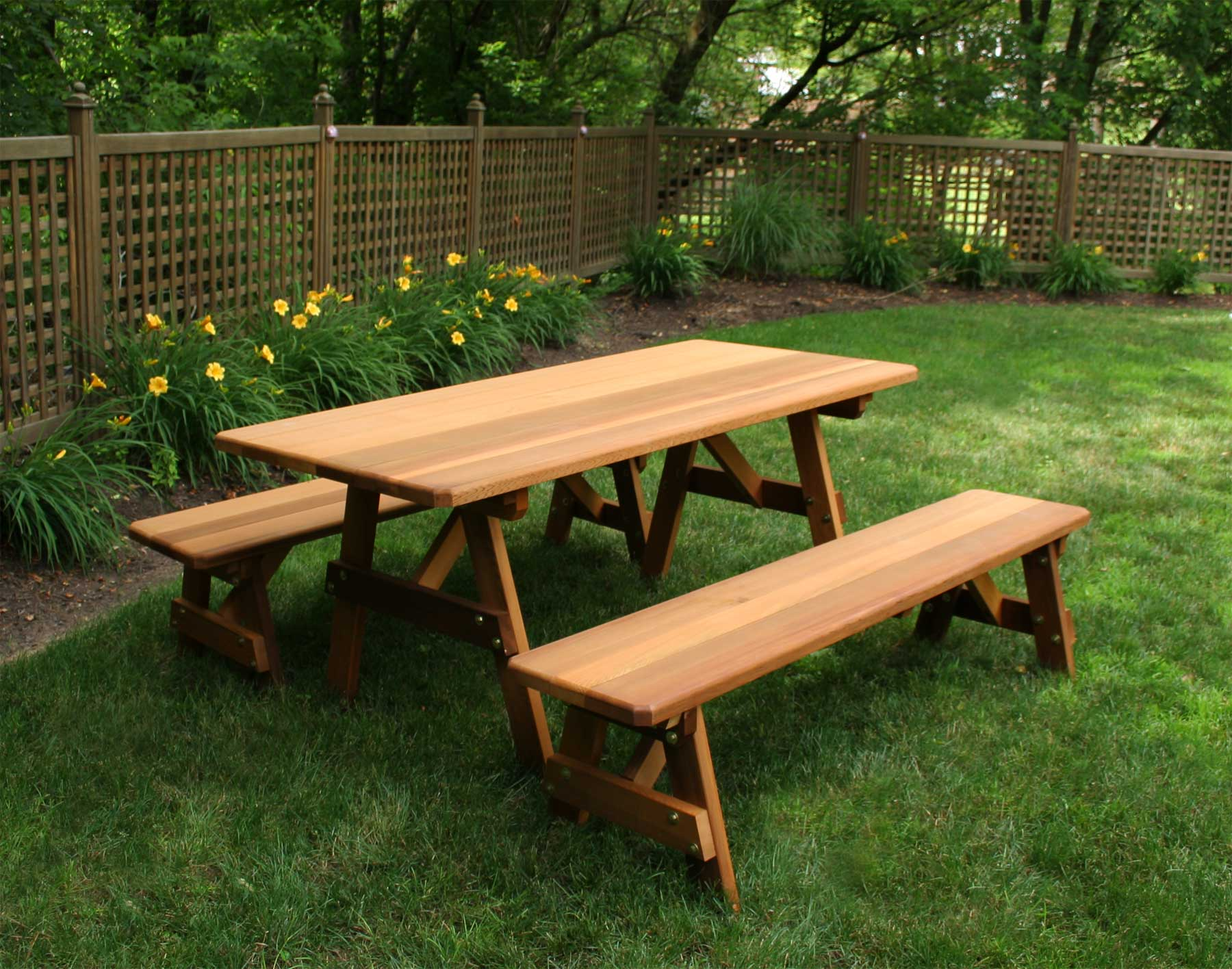 Red Cedar Picnic Table W Benches