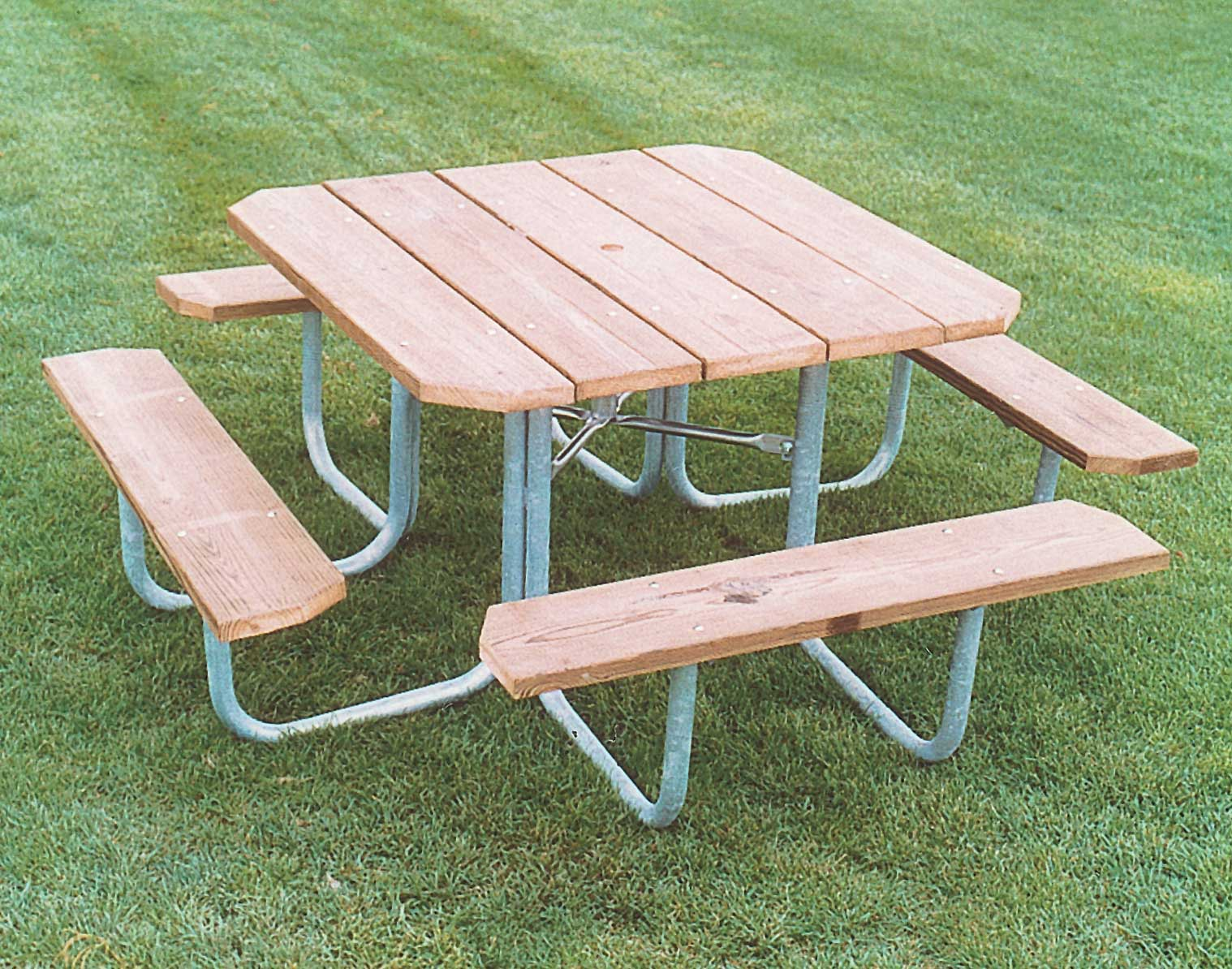 FourSided Picnic Table - Four sided picnic table