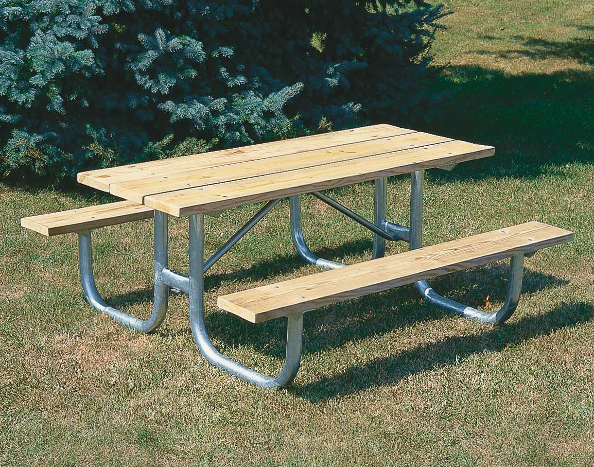 Extra HeavyDuty Welded Frame Picnic Table - Steel picnic table frame