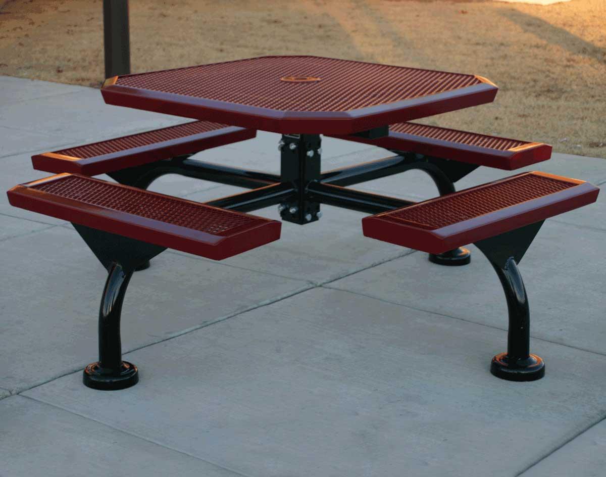46 infinity metal picnic table watchthetrailerfo