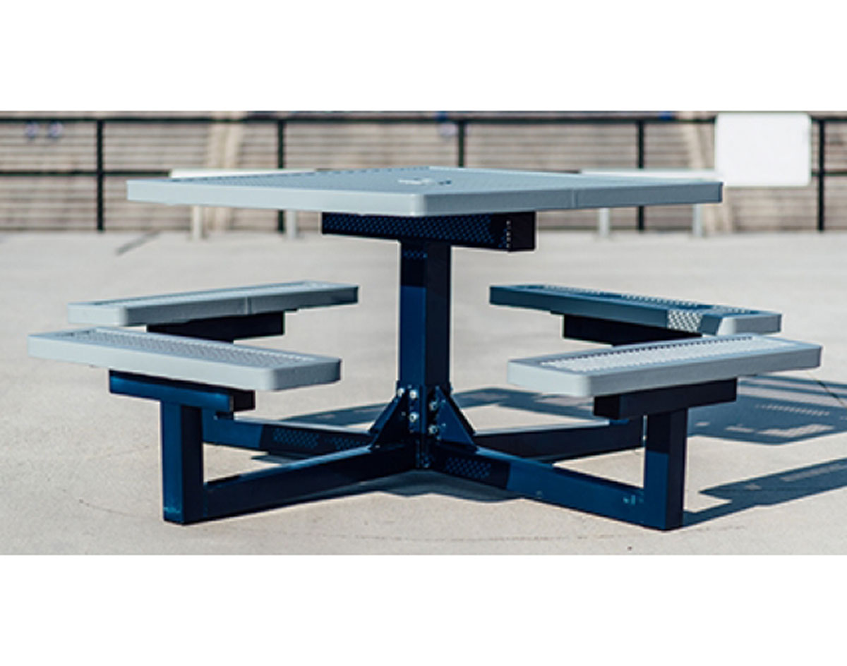 Square Pedestal Portable Regal Metal Picnic Table - Steel picnic table frame