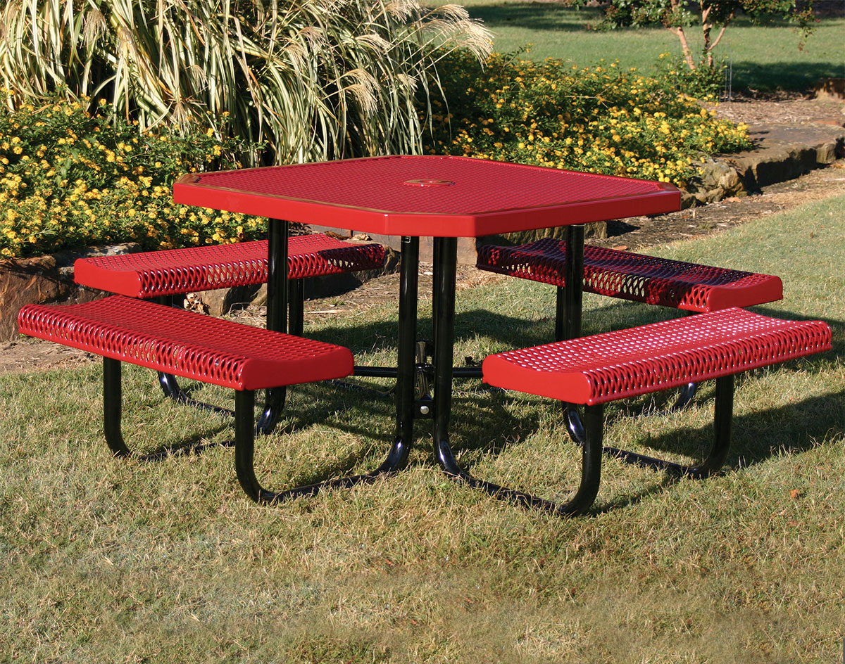 Awesome 46 Octagon Rolled Edge Metal Picnic Table Andrewgaddart Wooden Chair Designs For Living Room Andrewgaddartcom