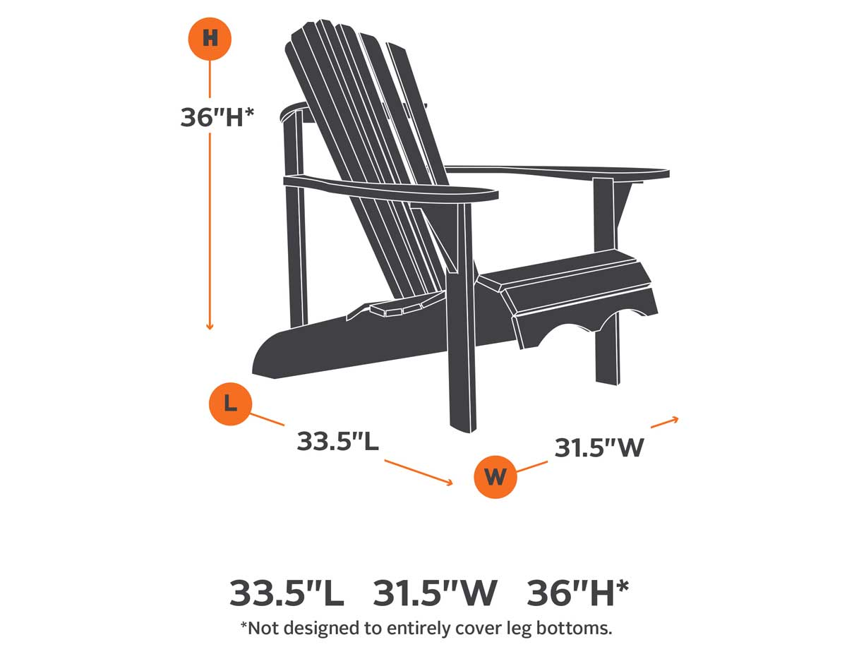 Fantastic Terrace Elite Adirondack Chair Cover Dailytribune Chair Design For Home Dailytribuneorg