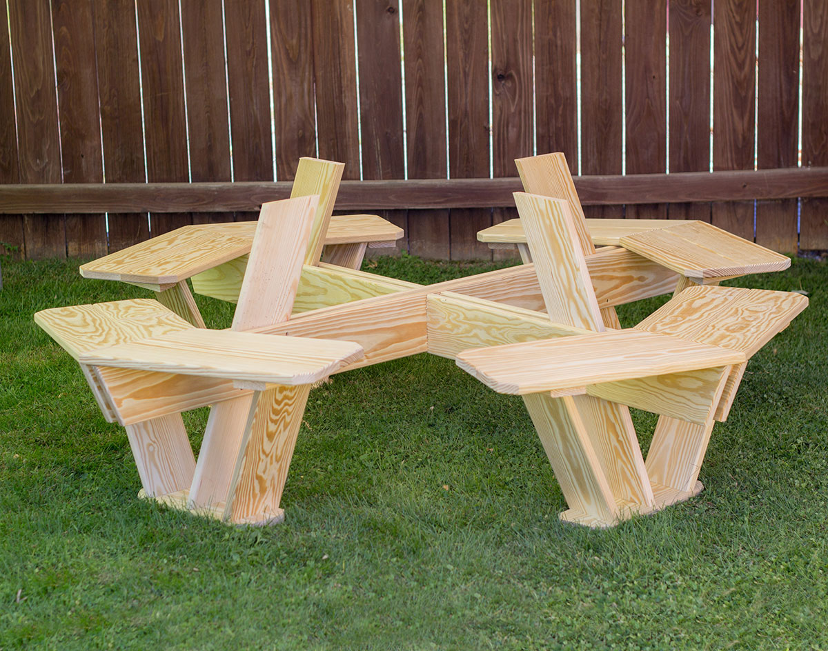 ordinary How To Make A Octagon Picnic Table Part - 18: Treated Pine Kids Octagon Picnic Table