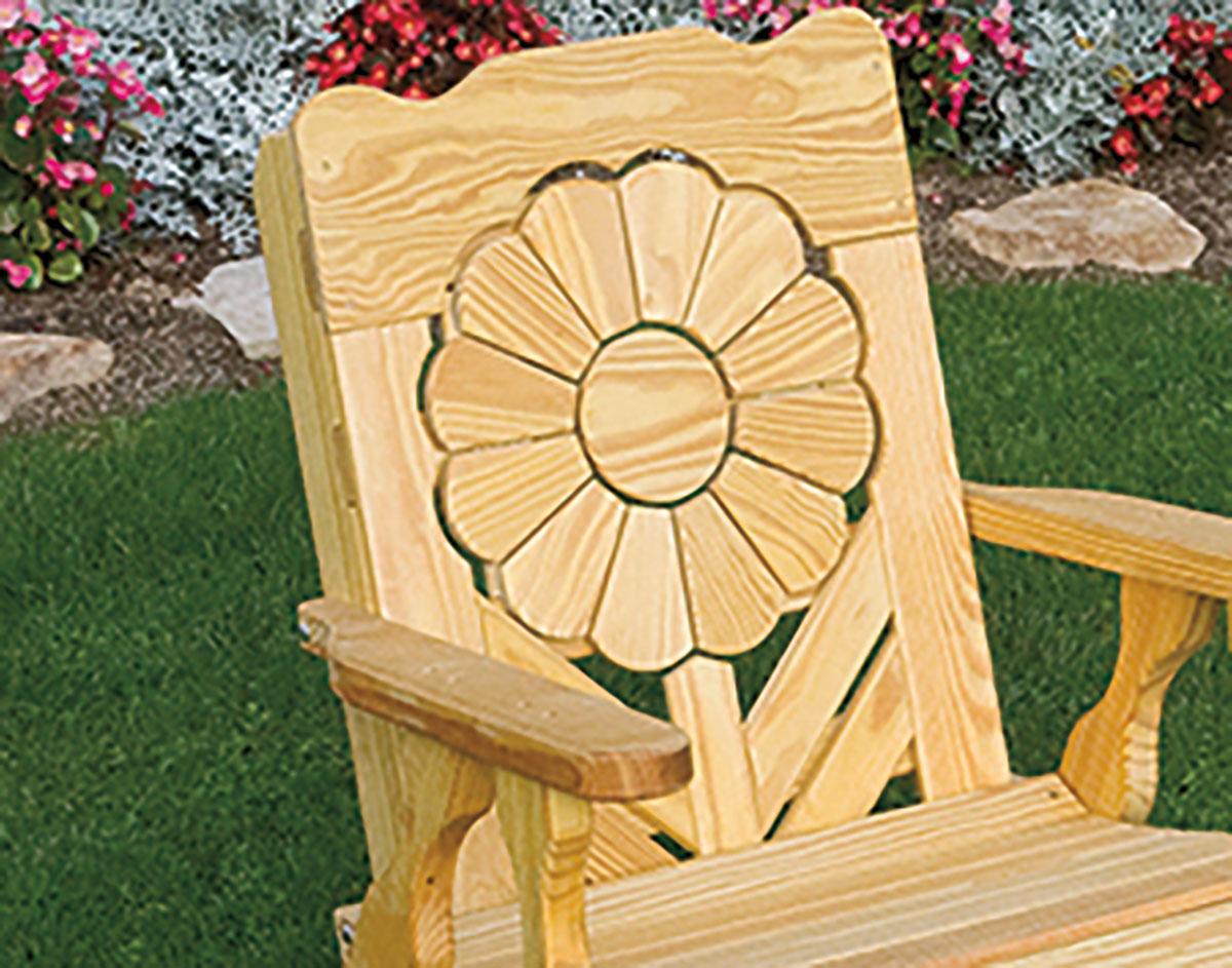 Sunflower Chair treated pine sunflower chair