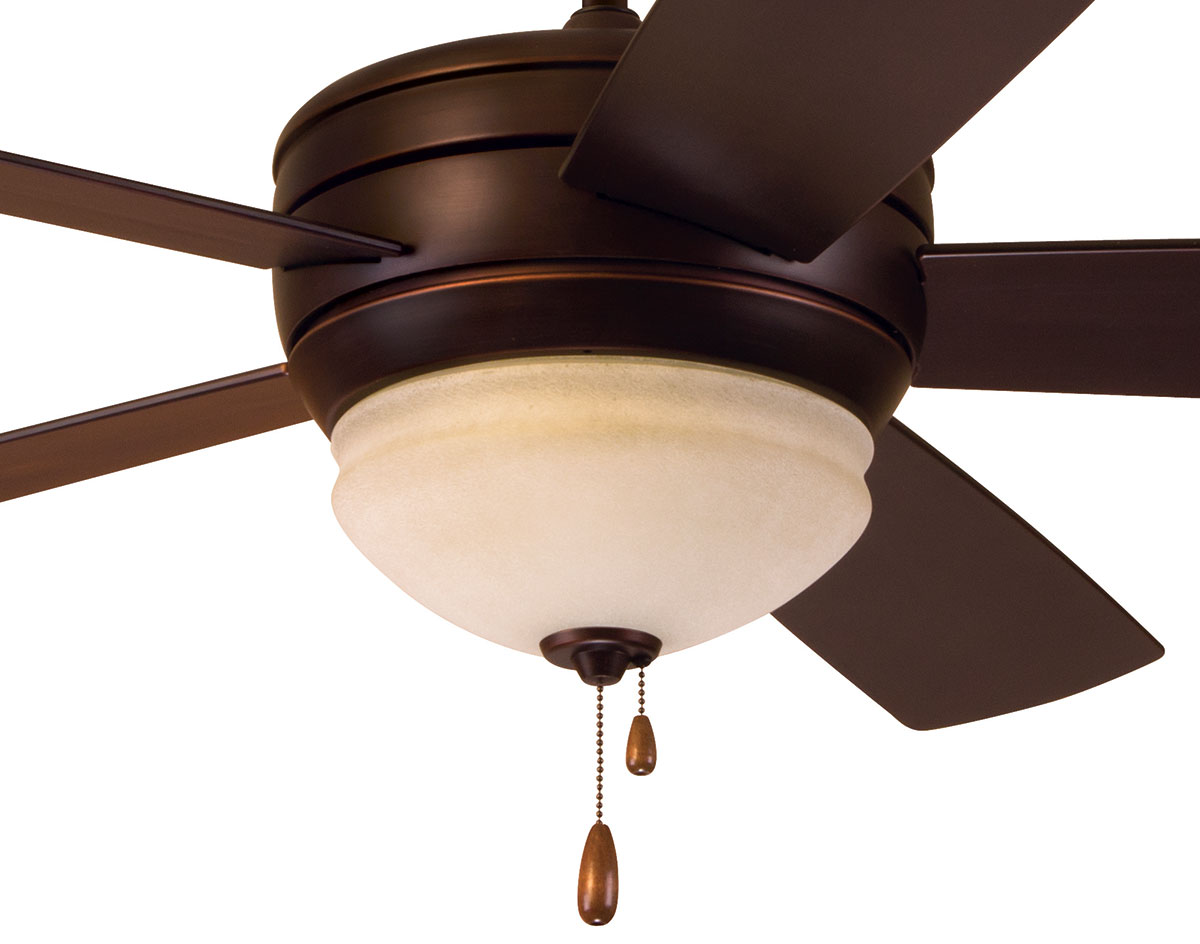 Close Up Of Dimming Light Venetian Bronze Avondale Indoor Outdoor Ceiling Fan