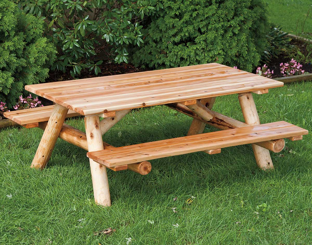 how to make a picnic table with attached benches | Custom House Woodworking