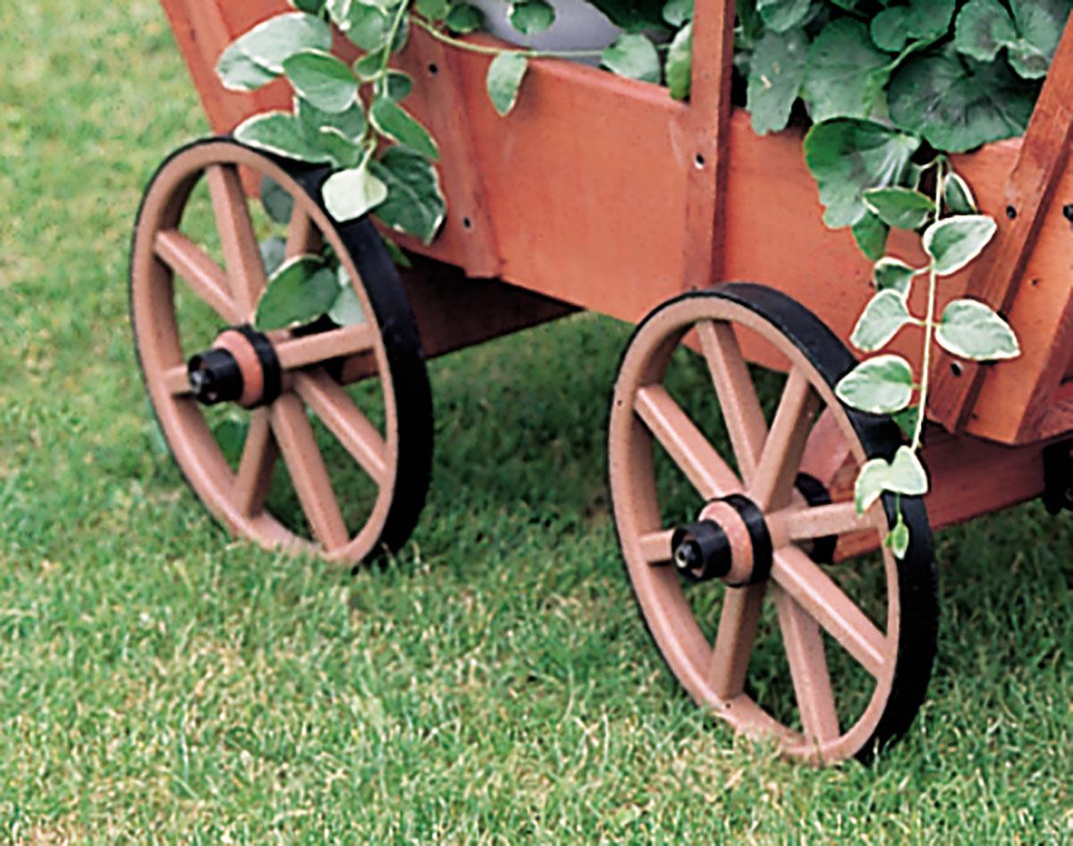 White Pine Decorative Covered Wagon