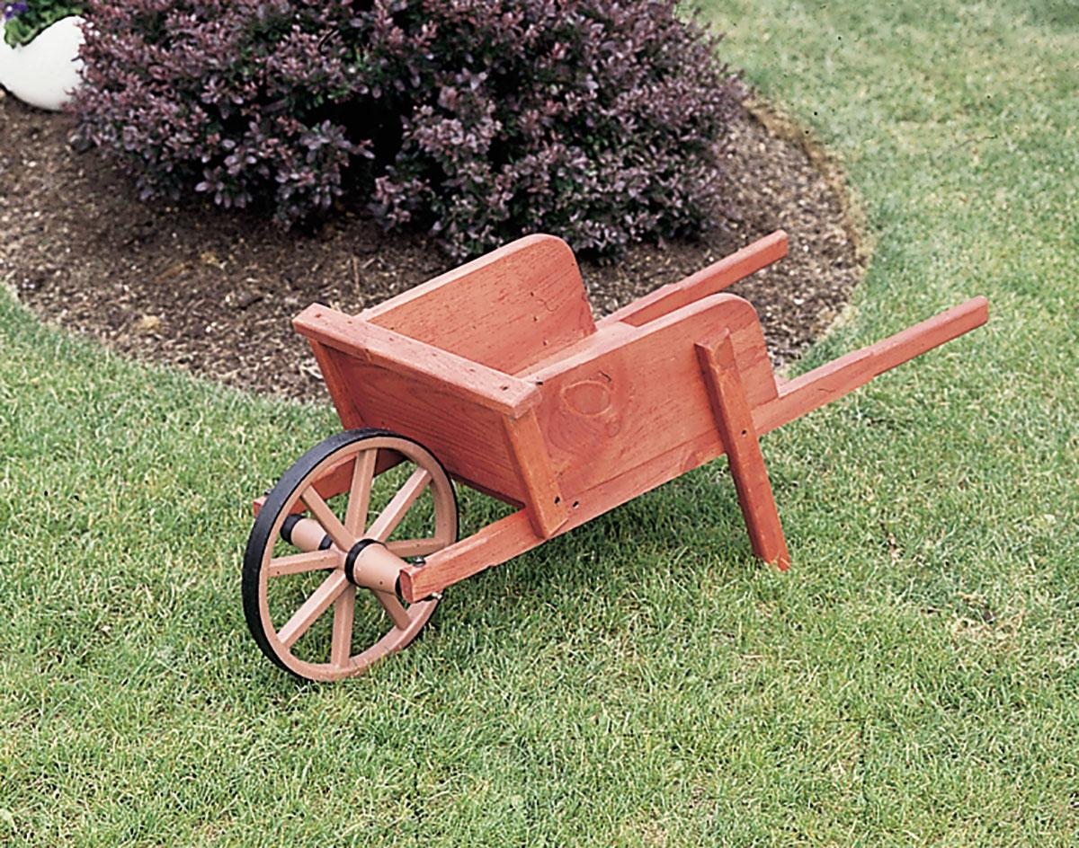White Pine Decorative Wheelbarrow