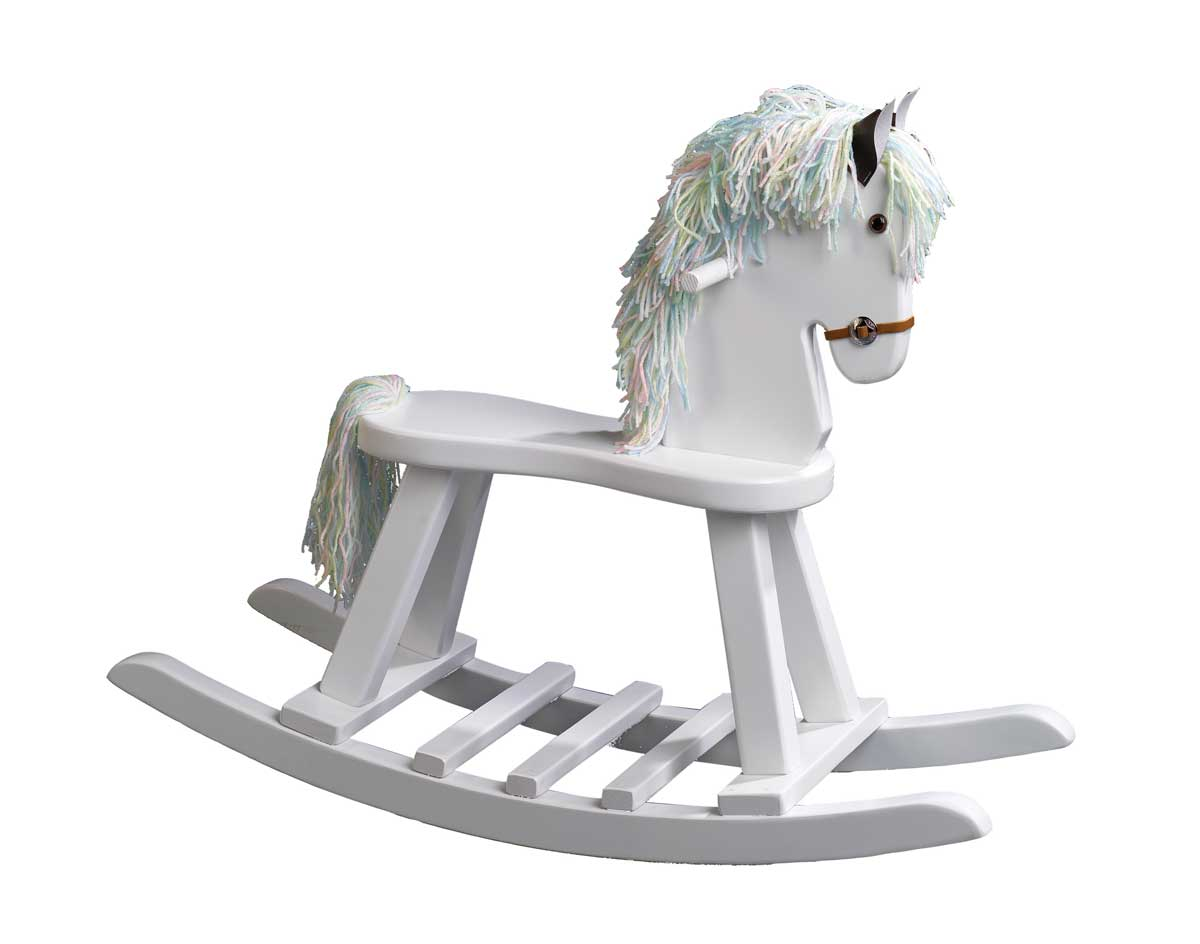 Wooden flat seat rocking horse