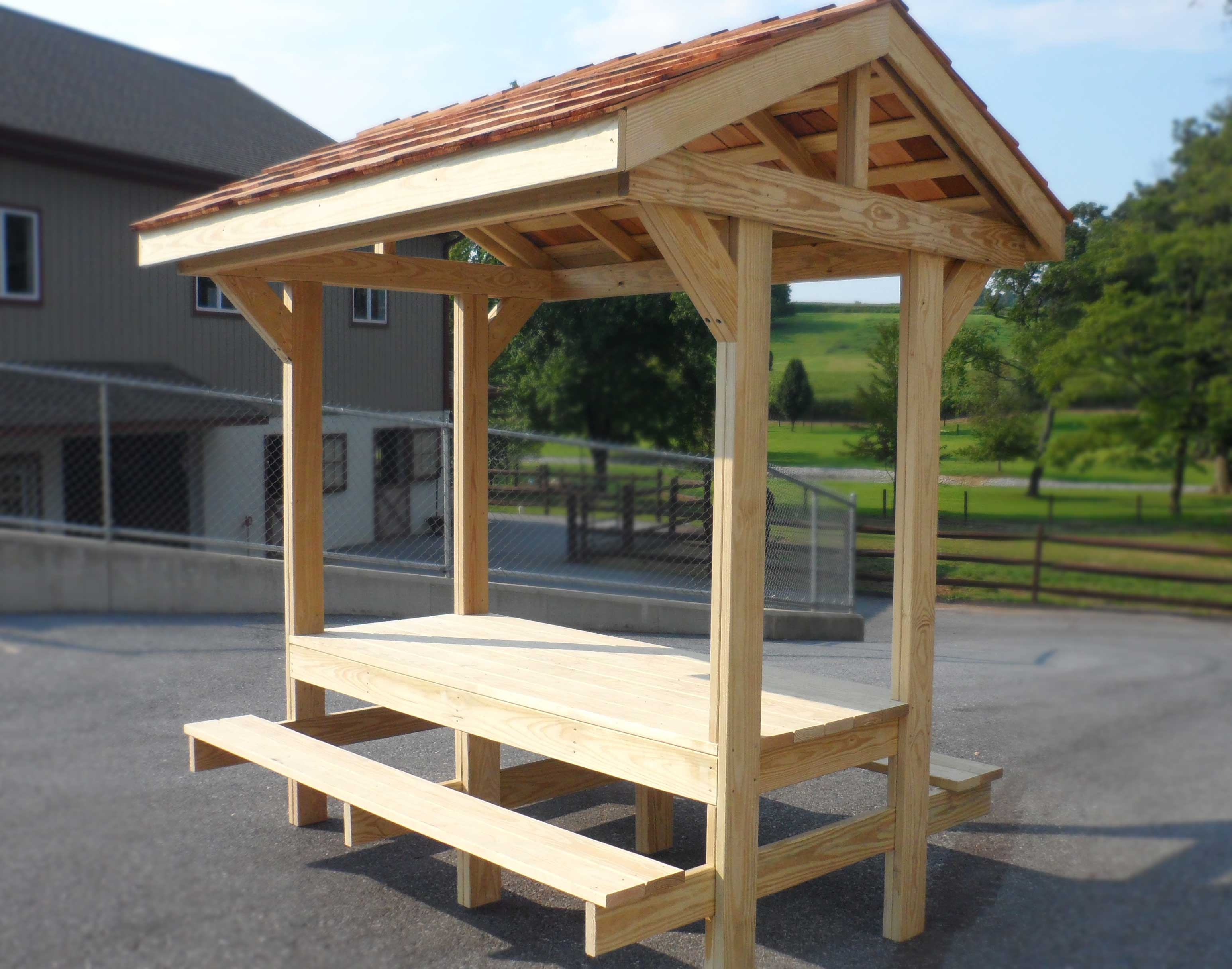 Personal Picnic Table Pavilion
