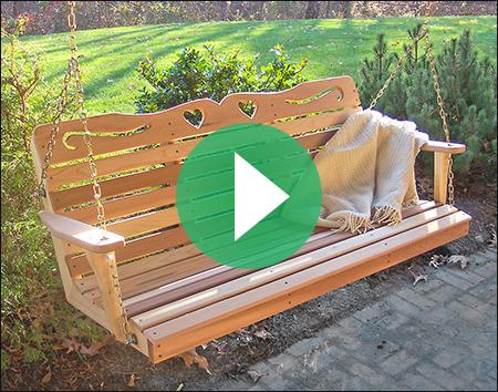 Red Cedar American Sweetheart Porch Swing
